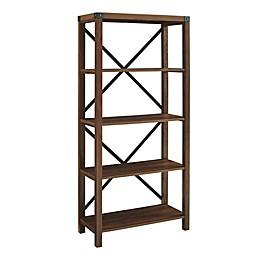 Forest Gate™ Englewood 64-Inch Bookcase in Dark Walnut