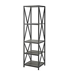 Forest Gate™ 61-Inch Industrial Bookcase in Slate Grey