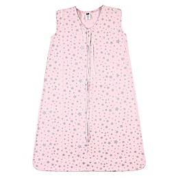 Hudson Baby® Silver Star Wearable Blanket in Pink