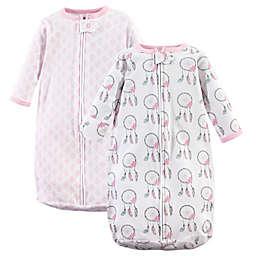 Hudson Baby 2-Pack Dream Long Sleeve Sleeping Bags in Pink