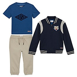 Hudson Size 24M 3-Piece Fleece Jacket, Tee and Jogger Set