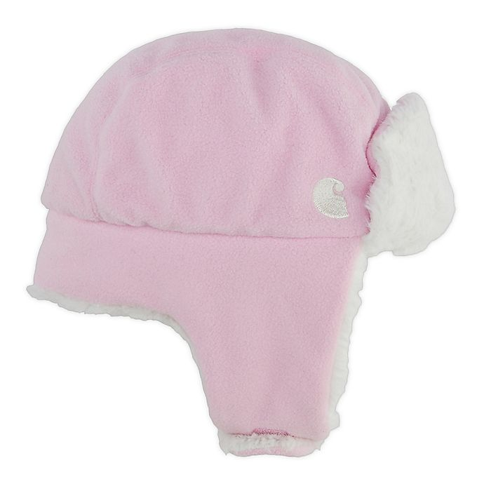 Alternate image 1 for Carhartt® Sherpa Lined Trapper Hat in Pink