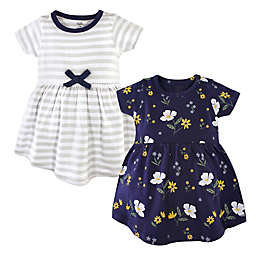 Hudson Baby® 2-Pack Night Blooms Dresses in Grey