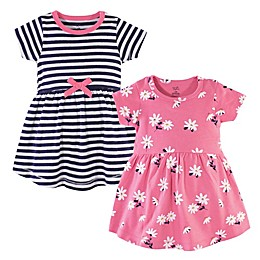 Hudson Baby® 2-Pack Daisy Dresses in Pink