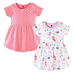 Hudson Baby® Size 18-24M 2-Pack Woodland Fox Dresses in Blue