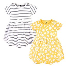 Hudson Baby® 2-Piece Daisy Dress and Cardigan Set