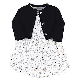 Hudson Baby® 2-Piece Dreamer Dress and Cardigan Set in Black