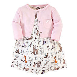 Hudson Baby® 2-Piece Enchanted Forest Dress and Cardigan Set