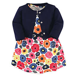 Touched by Nature Size 18-24M 2-Piece Ditsy Floral Organic Cotton Dress and Cardigan Set