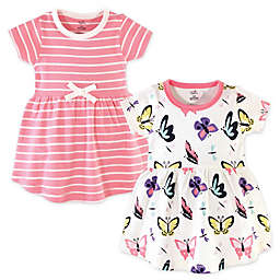 Touched by Nature 2-Pack Butterflies, Dragonflies, and Stripes Organic Cotton Dresses