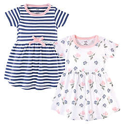 Touched by Nature 2-Pack Roses, Berries, and Stripes Organic Cotton Dresses