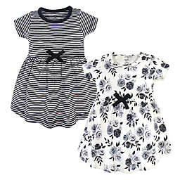 Touched by Nature 2-Piece Organic Cotton Dress Set in Black Floral