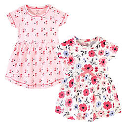 Touched by Nature Size 5T 2-Pack Coral Garden Organic Cotton Dresses