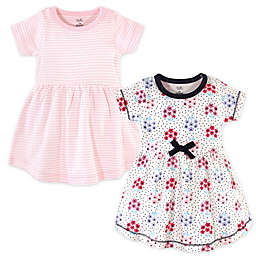 Touched by Nature 2-Pack Floral Dots and Stripes Organic Cotton Dresses