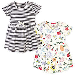 Touched by Nature Size 5T 2-Pack Flutter Garden Organic Cotton Dresses in Grey