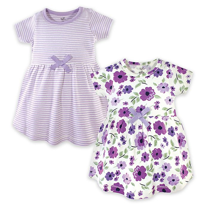 Alternate image 1 for Touched by Nature 2-Pack Garden Dresses in Purple