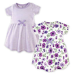 Touched by Nature Size 2T 2-Pack Garden Dresses in Purple