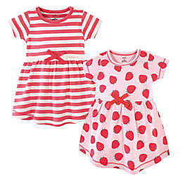 Touched by Nature Size 5T 2-Pack Strawberry Dresses in Red