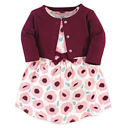 Touched by Nature® Size 3T 2-Piece Blush Blossom Organic Cotton Dress and Cardigan Set