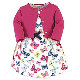 Touched by Nature® 2-Piece Butterflies Organic Cotton Dress and Cardigan Set