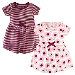 Touched by Nature Size 0-3M Flutter Garden Organic Cotton Dress and Cardigan Set