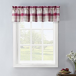 Colordrift Lloyd Stitch Window Valance in Red