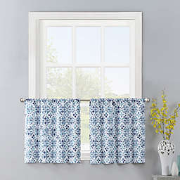 Colordrift Gallow 2-Pack 24-Inch Window Curtain Tiers in Aqua