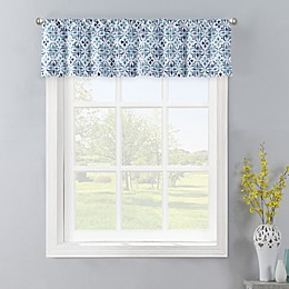 Colordrift Gallow Window Valance in Aqua
