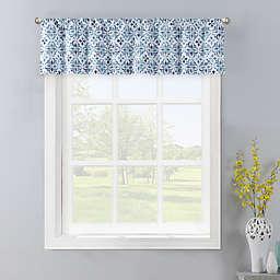 Colordrift Gallow Window Valance in Aqua