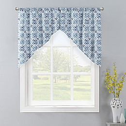 Colordrift Gallow 2-Pack Swag Window Valances in Aqua