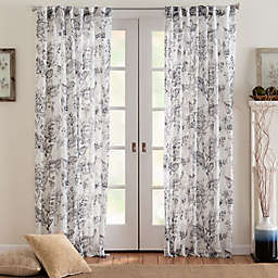 Eastwood Mulberry Semi Sheer Light Filtering Window Curtain Panel
