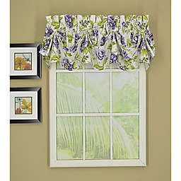 Today's Curtain Francesca Sailcloth Tucked Window Valance in Purple