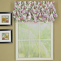 Today's Curtain Lucerne Sailcloth Tucked Pleat Window Valance in Rust
