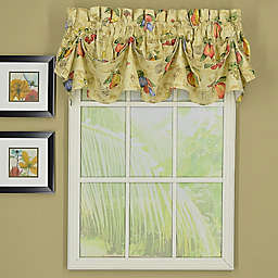 Today's Curtain Orchard Sailcloth Tucked Pleat Window Valance in Sand