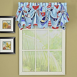 Today's Curtain Bayside Sailcloth Tucked Window Valance in Blue