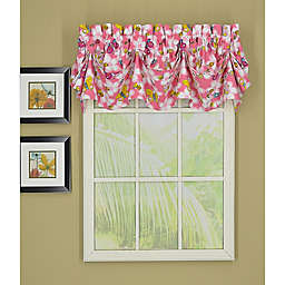Today's Curtain Little Bee Sailcloth Tucked Window Valance
