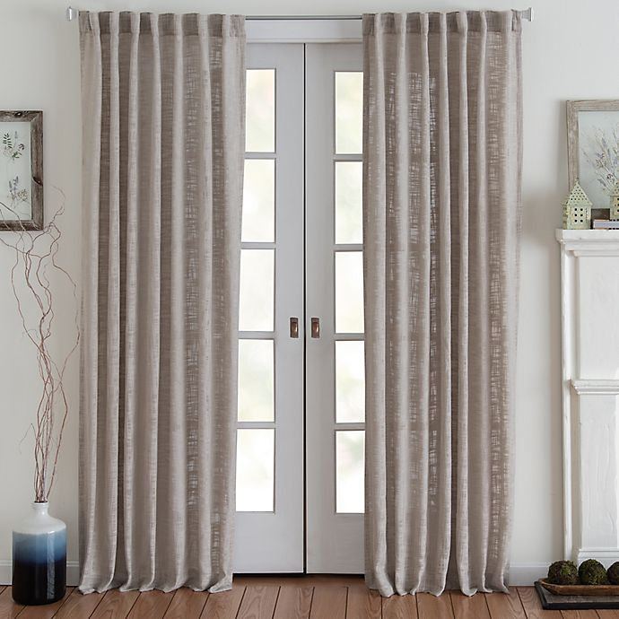 Alternate image 1 for Eastwood 84-Inch Rod Pocket Window Curtain Panel in Tan