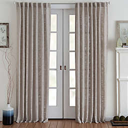 Eastwood 84-Inch Rod Pocket Window Curtain Panel in Tan