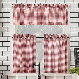 No.918® Parkham Farmhouse Plaid Semi-Sheer Rod Pocket Kitchen Curtain Valance