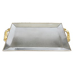 Julia Knight® Sierra 20-Inch Rectangular Serving Tray in Frosted