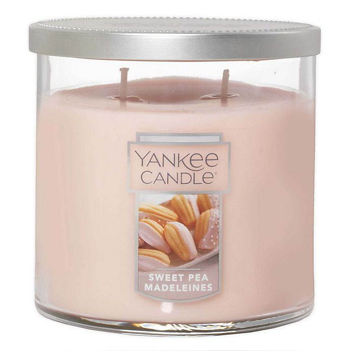 Alternate image 1 for Yankee Candle® Sweet Pea Madeleines Medium 2-Wick Tumbler Candle