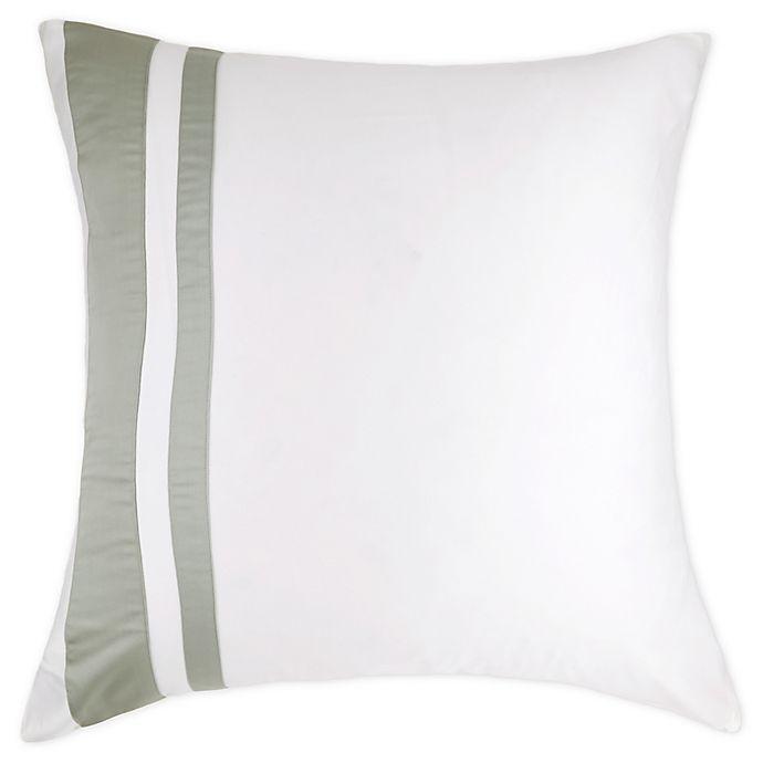Alternate image 1 for Frette At Home Brenta European Pillow Sham in Ivory/Sage