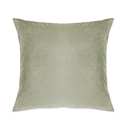 Frette At Home Realmonte Solid Square Throw Pillow in Sage
