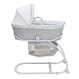 Delta CHILDREN Deluxe Canopy Moses Bassinet in Grey