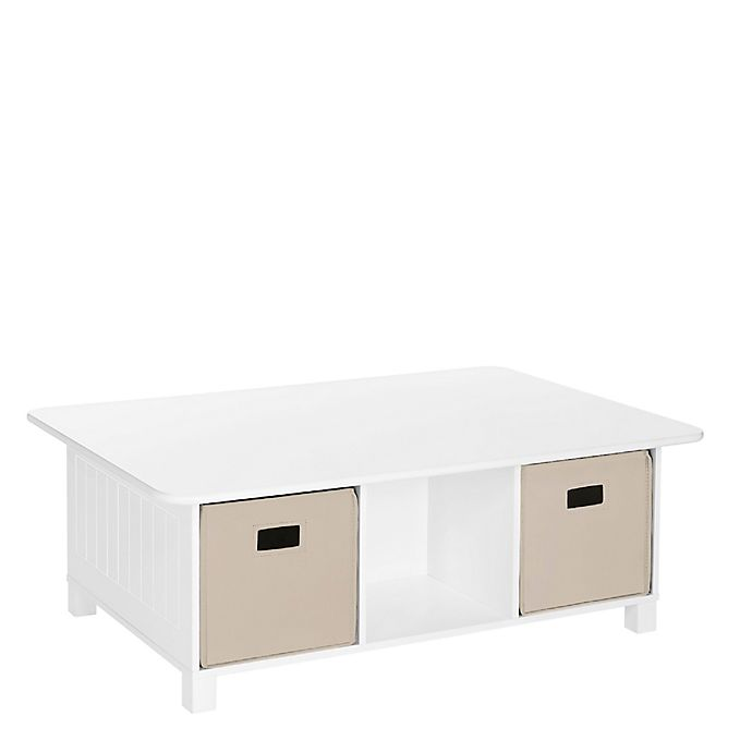 Alternate image 1 for RiverRidge® Home Kids Activity Table with Storage Bins in White/Taupe