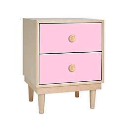 Nico & Yeye Lukka Kids 2-Drawer Nightstand in Pink/Maple