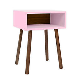 Nico & Yeye Minimo Kids Nightstand in Pink/Walnut