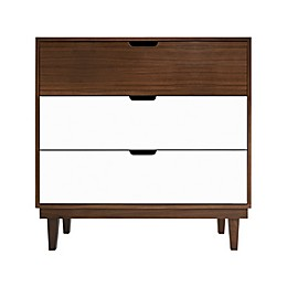 Nico & Yeye Kabano 3-Drawer Dresser in White/Maple