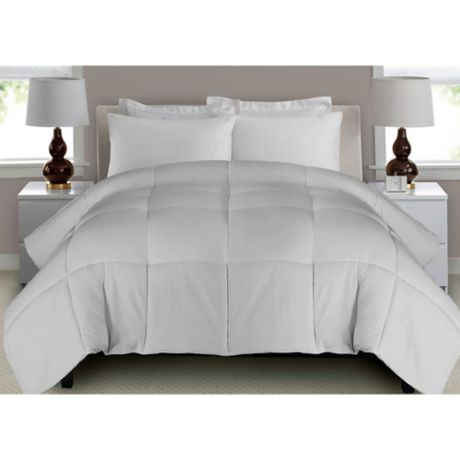 Microfiber Down Alternative Comforter, Oversized King Size Bedding 128×120