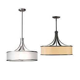 Sea Gull Collection by Generation Lighting Casual Luxury 4-Light Pendant with Organza Shade